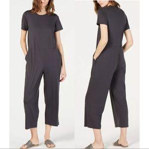 NWT Eileen Fisher System Fine Graphite Jumpsuit